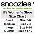 Snoozies Womens Classic Splitz Applique Slipper Socks | Womens House Slipper Socks