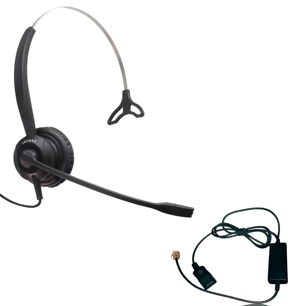 Polycom Compatible XS 820 Direct Connect Headset with Inteli Cord | SoundPoint Phones: IP450, IP501, IP550, IP560, IP601, IP650, IP670, VVX300, VVX310, VVX400s, VVX500, VVX600, VVX1500, CX300, CX600