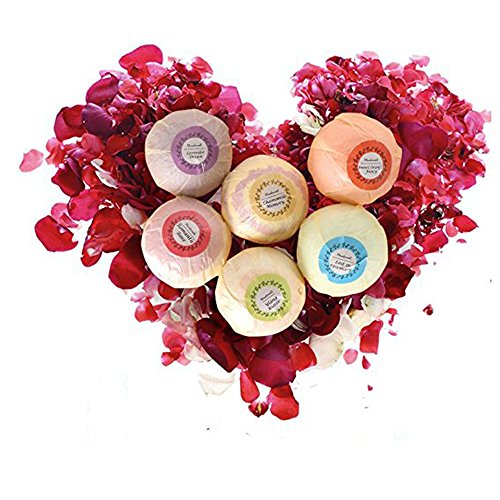 Bath Bombs Gift Set 6 USA made Fizzies, Shea/Cocoa Soothe Dry Skin. Perfect for Bubble & Spa Bath. Gift for Easter, Birthdays, Women, Mom, Teen Girl, Her/Him by Nicer