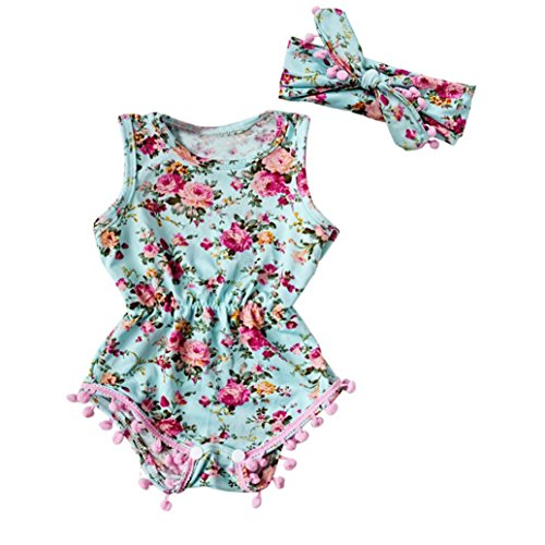 Gotd Newborn Infant Baby Girl Romper Jumpsuit Bodysuit Outfits ...
