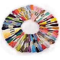 Lot de 50 échevettes de fil à broder - Assortiments de couleur