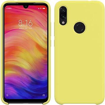 Funda para Xiaomi Redmi Note 7 de Silicona Cover con cojín de Forro de Tela de Microfibra Case Suave Carcasa para Xiaomi Redmi Note 7-Amarillo: Amazon.es: Electrónica