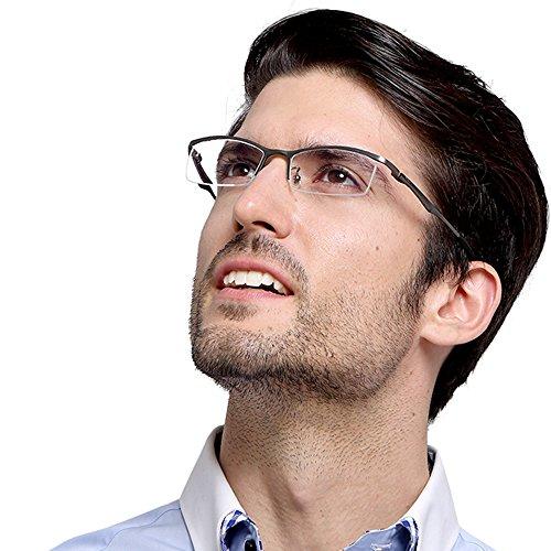 9880 Light - TERAISE Titanium Half-Frame Eyeglasses Ultra-Light Optical Frame for Men and Women
