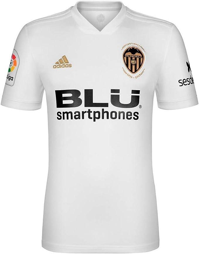adidas Valencia CF Primera Equipación 2018-2019 Niño, Camiseta, White-Crystal White: Amazon.es: Deportes y aire libre