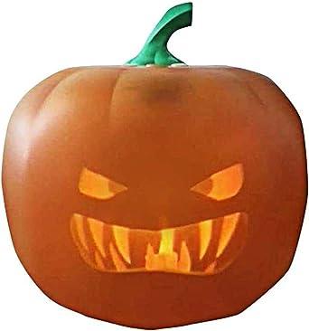 Im Gesprach Halloween Kurbis Laterne Animierte Led Kurbis Blitz Projection Jack Laterne Halloween Dekoration Flash Color Orange Amazon De Beleuchtung