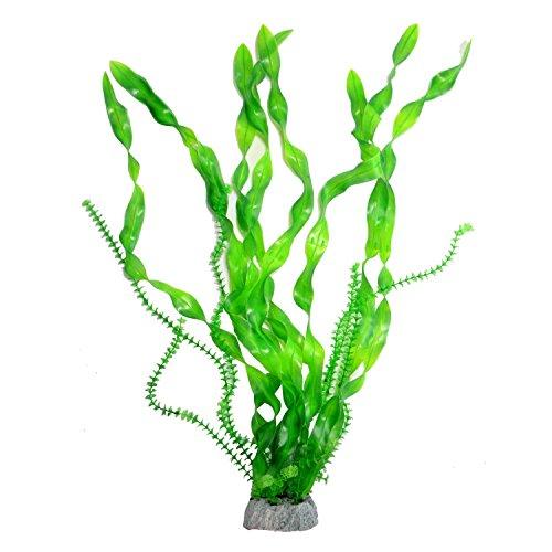 Saim Jardin Artificial Green Plastic Decorative Long Leaf Grass Plant for Aquarium, 26.4Inch (Jardin Plant Aquarium)