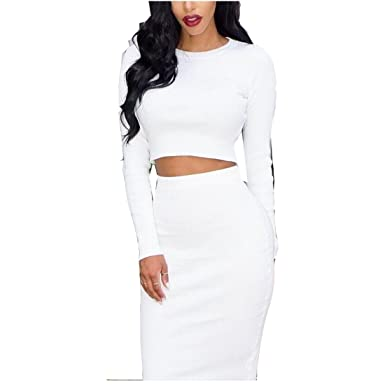 Two Piece White Dresses