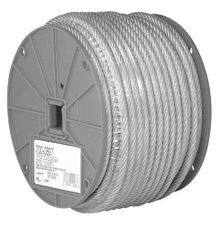"""3/32"""" X 250' Cable Vinyl Coated Reel - Campbell 7000397"""