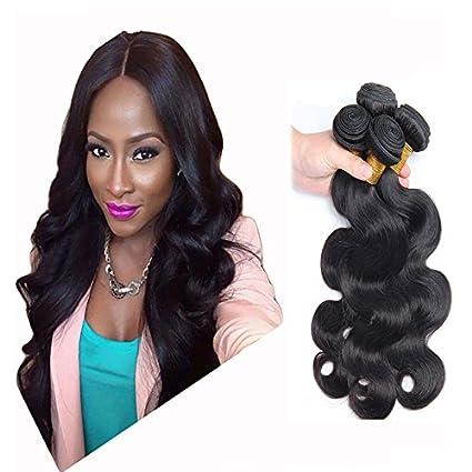 Wendy Hair Brazilian Body Wave Hair extensions capelli umani non  Trasformati tessitura 9 a grade Black 42ba8c282ac5