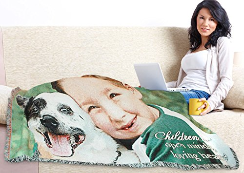 Blankets Photo Woven (Custom Woven Photo Blanket)