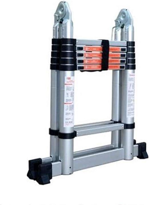ZR- Escalera Telescópica, 3,2 Metros - 5,6 Metros Escalera Ingeniería Escalera Articulada Plegable Escalera Telescópica Hogar Escalera Espiga -Fácil de almacenar y fácil de llevar: Amazon.es: Hogar