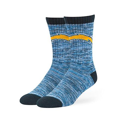 NFL San Diego Chargers Men's Leroy Sport Crew Socks, Large, Light Navy
