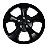 rims for 08 pontiac g5 - TuningPros WSC-616B15 Hubcaps Wheel Skin Cover 15-Inches Matte Black Set of 4