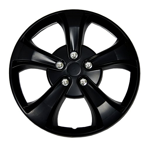 TuningPros WSC-616B15 Hubcaps Wheel Skin Cover 15-Inches Matte Black Set of - Accord 96 Honda Hubcaps