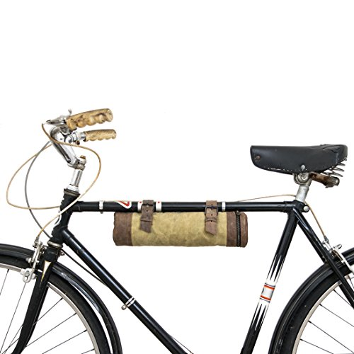 Waxed Canvas Bike Pack Tube Handmade by Hide & Drink