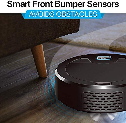 Aspirateur Robot, Robot Aspirateur-Laveur Balayage et Lavage, Aspiration Puissante pour sols durs et tapis idéal pour Les Poils d'Animaux - Home Robots