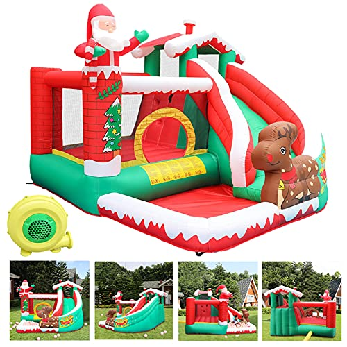 InKach Bounce House with Blower | Clearance!!! Children's Outdoor Inflatable Bouncer Jumping Bouncy Castle Ball Pit Backyard Jump House (The U.S. Warehouse, Multicolor)