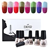 Elite99 Temperature Color Changing Gel Nail Polish Kit 8 Colors, Soak Off UV LED Nail Polish Set Nail Art C047