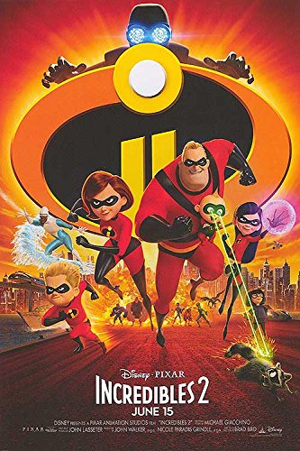 "Incredibles 2 - Authentic Original 13.5"" x 20"" Movie Poster by MovieposterDotCom"