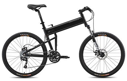 Montague 18 Inch Paratrooper Pro Folding Bike, Matte Black