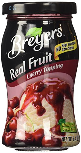 Breyers Real Fruit Cherry Topping (8.4 oz Jars) 2 Pack