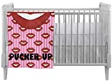 Lips (Pucker Up) Crib Comforter / Quilt