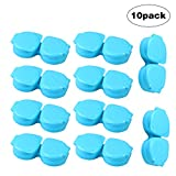 ROSENICE Travel Contact Lens Case Storage Box Container for Home and Travel Use 10PCS (Blue)