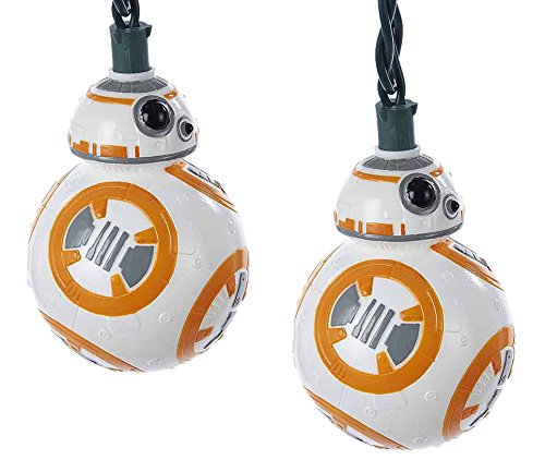 Star Wars BB8 Robot Christmas String Light Set of 10 Lights Decoration SW9168