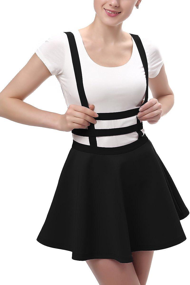 Urban GoCo Falda Plisada con Cintura El/ástica para Mujeres