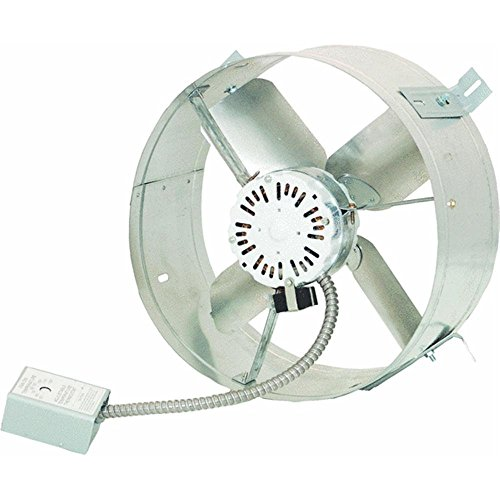 Cool Attic CX1500UPS Power Gable Mount Ventilator Fan, Home Roof Vent Cooling Fan, 1300 CFM, 115 Volts (Power Roof Fans)