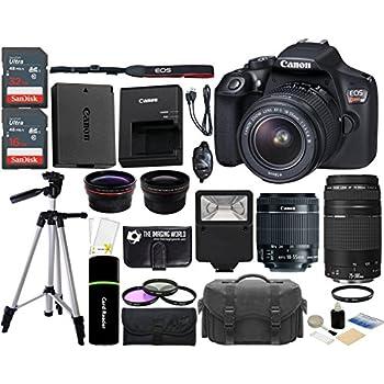 Amazon.com: Canon EOS Rebel T6 18MP Wi-Fi SLR Digital Camera + 18 ...