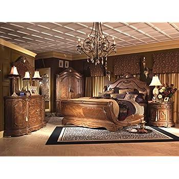 Aico Amini Cortina E King Sleigh 4 Piece Bedroom Set Bed, Nightstand,  Dresser U0026