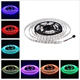 Alarmpore (TM) 16.4FT Double Row 5050 SMD 5M 600LEDs RGB Flexible LED Strip Rope Lights 120LEDs/M Not Waterproof String Light Tape 12V DC
