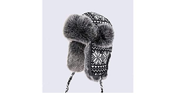 077ca16a9 Amazon.com: Culturemart Men Women's Bomber Hats Black White Wool ...