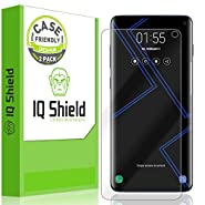 """[2-Pack] IQ Shield LiQuidSkin [Case Friendly] Screen Protector for Galaxy S10 6.1 HD Clear Film [NOT Compatible with Verizon Samsung S10 5G 6.7""""]"""