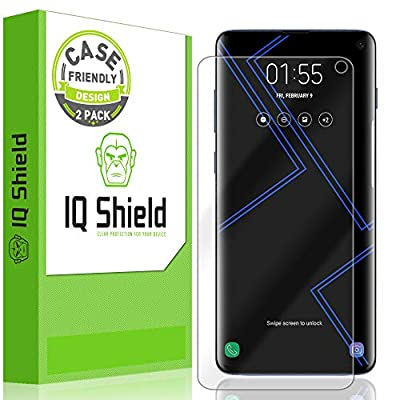 "[2-Pack] IQ Shield LiQuidSkin [Case Friendly] Screen Protector for Galaxy S10 6.1 HD Clear Film [NOT Compatible with Verizon Samsung S10 5G 6.7""]"