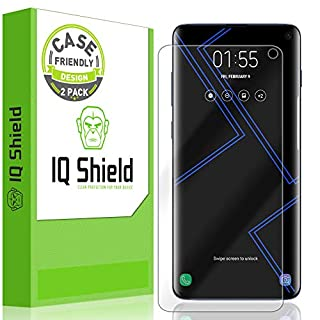 IQ Shield Screen Protector Compatible with Galaxy S10 6.1 (2-Pack)(Case Friendly) Anti-Bubble Clear Film (NOT Compatible with Verizon Samsung S10 5G 6.7 inch)