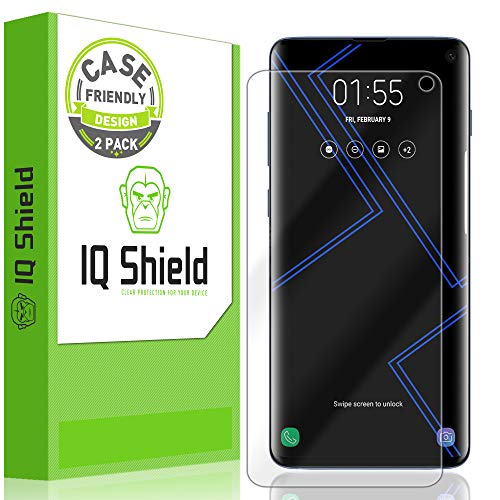 IQ Shield Screen Protector Compatible with Galaxy S10 6.1 (2-Pack)(Case Friendly) LiquidSkin Anti-Bubble Clear Film (NOT Compatible with Verizon Samsung S10 5G 6.7 inch)