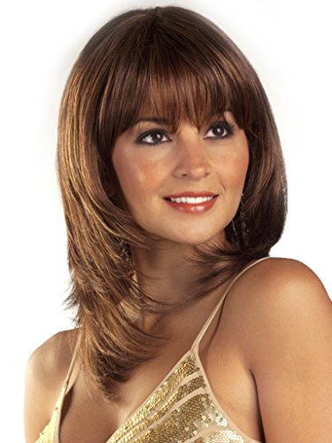 Auburn Red Short Straight Shoulder Length as Real Hair Synthetic Wigs for