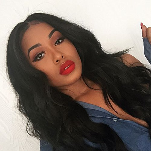 ZigZag Hair 360 Lace Frontal Wig Brazilian Virgin Human Hair Wigs For Black Women 360 Lace Wig Pre Plucked Full Lace Wig With Baby Hair (18'', Body Wave)