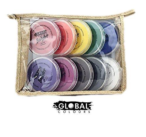 Bundle - Face Paint Kit - 10 Standard Colors by Global Body Art
