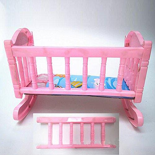 Ocamo Bed Sleeping Bed Doll Accesorio de plástico Cama de Juguete para Barbie de Niños