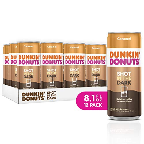 Dunkin Donuts Shot In The Dark, coffee espresso blend drink (Caramel, 8.1 fl oz, 12 ()