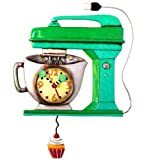 "Allen Design Studios ""Vintage Mixer Green"" Mixer Kitchen Wall Clock Review"