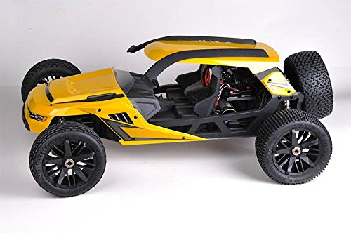 HBX T6 Hammer Head Large 1/6 Scale 2WD Yellow 55 MPH Plus Desert/Dune Buggy w/2350KV Brushless Motor, Includes 2x7.4V 4200mAh LiPo Batteries & Charger - CIS Associates