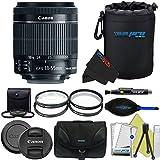 Canon EF-S 18-55mm f/3.5-5.6 IS STM Lens Pixi-Advanced Accessory Bundle