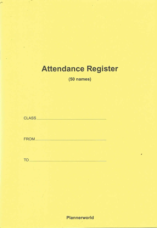 staff attendance register