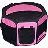 Pet Gear Travel Lite Octagon Pet Pen with Removable Top for Cat and Dog up to 30-Pound, 29-Inch, Pink