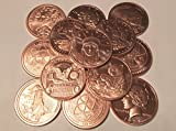 Pair of Lightly Scratched Copper Coins 1 Ounce Each Set of 2 .999 Fine Pure Refined Copper