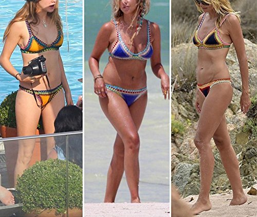 Beachwear Da Bagno Minetom Up Bikini Push Donna Nero2 Sexy Estate Due Spiaggia Pezzi Bandeau Elegante Rifilato Triangolo Costume Swimwear Crochet BPBqwrO7